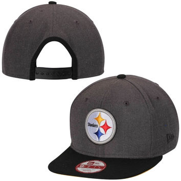 Pittsburgh Steelers New Era Original Fit Two-Tone Action 9FIFTY Snapback Hat – Heather Gray/Black