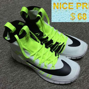 Legit Cheap 2018 Nike Free Flyknit Mercurial Superfly SP HTM Flash Lime Black White shoes