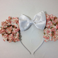 Pink Rose Floral Flower Mouse Ears