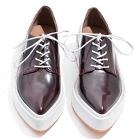 Jeffrey Campbell Garrison Burgundy Pointed Loafers