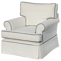 Barclay Butera, Hampton Linen Club Chair, White, Club Chairs