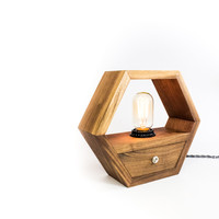 Hexagon Edison Lamp