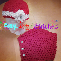 Lacey neckwarmer and hat set