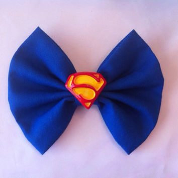 Superman Inspired Hair Bow Medium Sized, DC Comics, Man of Steel, Supergirl