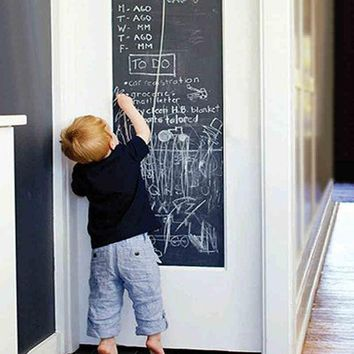 DCK9M2 45x200cm Chalk Board Blackboard Stickers Removable Vinyl Draw Decor Mural Decals Art Chalkboard Wall Sticker For Kids Rooms