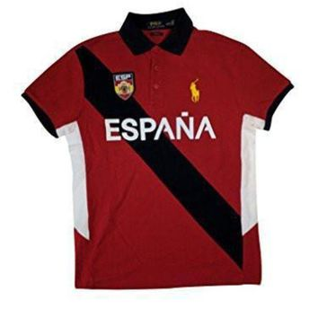 Polo Ralph Lauren Men's Custom Fit Country Jersey Polo Shirt