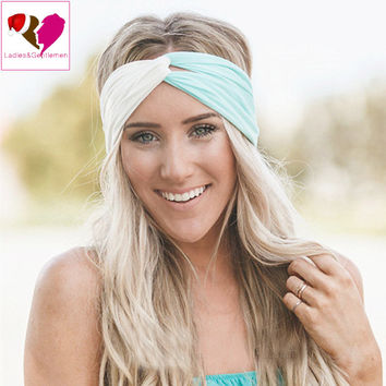 Twist Turban Headband for Women Hair Accessories Stretch Hairbands Girls Headwear Sport Headbands Yoga Head Wrap Band Bandana