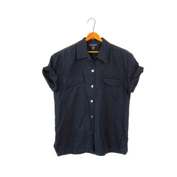 Best Women's Short Sleeve Button Up Shirts Products on Wanelo