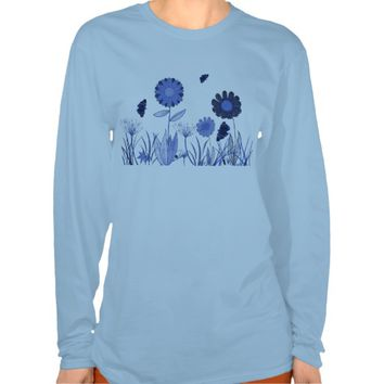 Blue Summer meadow T-shirts