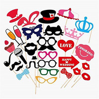Wedding Photo Booth Props new design 2015, wedding decorations, birthday party photo props, attached to the stick NO DIY required only from USASales Seller (Style 1)