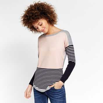 COLOUR BLOCK STRIPE SWEATER - MULTI