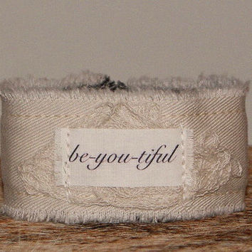Be you tiful Bracelet Cuff Beyoutiful Inspirational Jewelry ID Bracelet Personalized Jewelry Personalized Gift