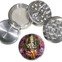 Fashion Weed Design Indian Aluminum Spice Herb Grinder Item # 110514-0017