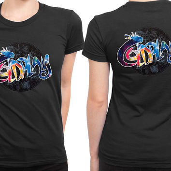 Coldplay Typo Colorize 2 Sided Womens T Shirt