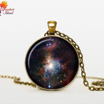 NEBULA Pendant   the Orion Nebula Necklace by ThePendantIsland