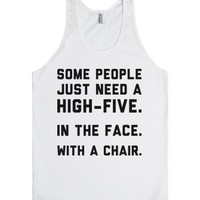A High-Five-Unisex White Tank