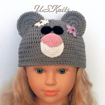 Crochet Tatty Teddy bear summer hat