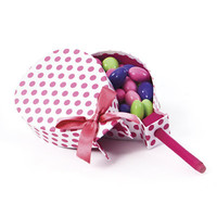 Popsicle Shaped Favor Box - Pink Polka Dots - 24 Pack - DIY Gift Packaging