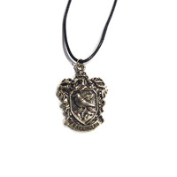 H.P Raven School Crest Necklace