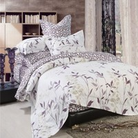 North Home Iris 4 PC Duvet Cover Set, Queen Size