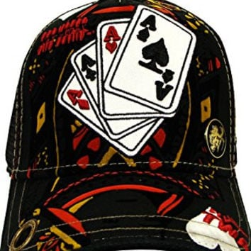 Red Monkey Four Aces Trucker Hat Black