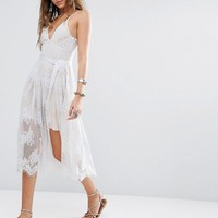 Free People Matchpoint Midi Lace Dress at asos.com