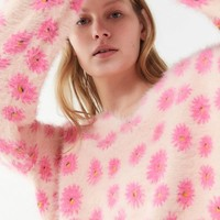 UO Keeley Eyelash Knit Pullover Sweater | Urban Outfitters
