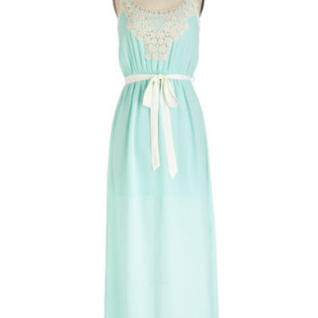 Pastel Long Sleeveless Maxi Right Grace at the Right Time Dress