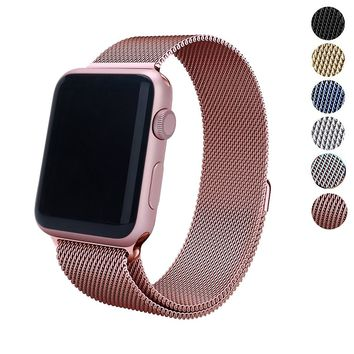 Apple Watch Band 38mm 42mm Erencook Stainless Steel With Magnetic Closure for iWatch Series 1 2 3 Sports