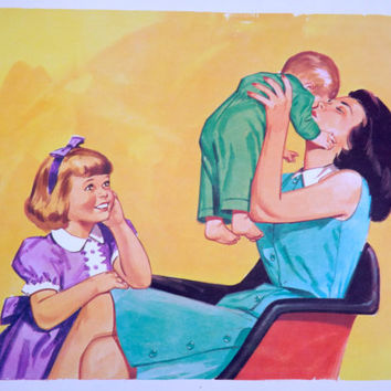 Vintage Learning Pictures Mother Children Kids Picture Teaching Pictures Love Picture