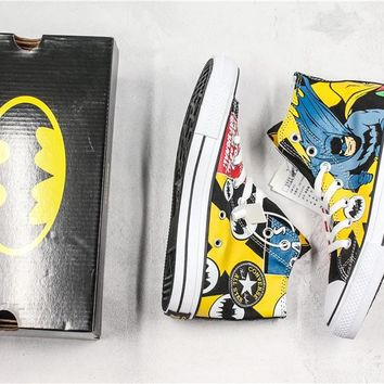 Converse x Batman High Skateboarding shoes 01