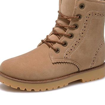 Fashion Winter Shoes For Men Suede pu Leather Snow Men Boots High Quality Comfy Casual Shoes Men