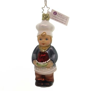 Inge Glas PATTY CAKE INNOCENT HEARTS Glass Ornament Christmas Baker 10070S018
