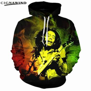 Fashion Mens Hoodies Streetwear Men Women tops 3d hip hop Sweatshirts Reggae Star Bob Marley Print hoodie casual Hoody Pullovers