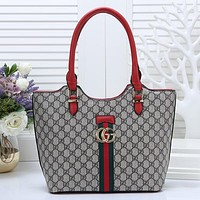 GUCCI Women Fashion Leather Satchel Crossbody Tote Shoulder Bag