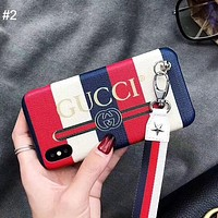 GUCCI tide brand lanyard iphoneXS MAX mobile phone case #2