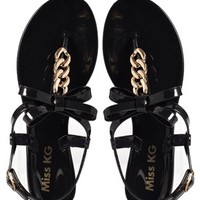 Miss KG Dolly Black Jelly Sandals