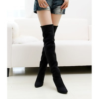 Sexy Stovepipe long boots Over the Knee high heels women boots