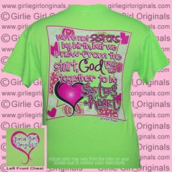 Sisters At Heart (Short Sleeve) - $16.99 : Girlie Girl™ Originals - Great T-Shirts for Girlie Girls!