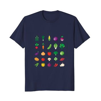Vegan T-Shirt Vegetarian Emoji Cool Diet Fun Icon Design Tee