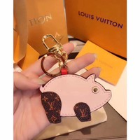 Louis Vuitton Lv M67402 Superstition Pig Bag Charm And Key Holder Pink