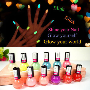 Nail Polish Glow in the Dark Leuchtet Nail Polish Neon Fluorescent Polish