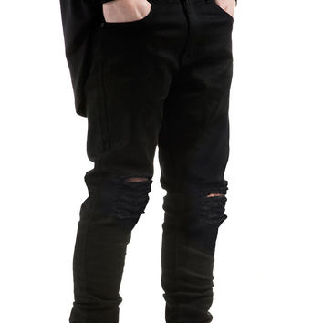 Fury Destroyed Denim - Black