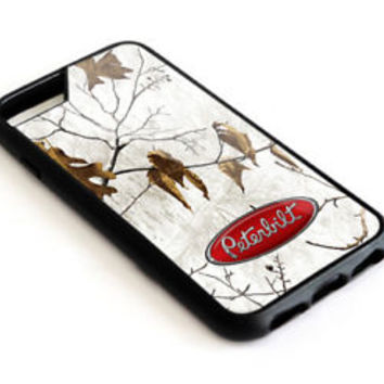 Peterbilt Truck White Camo iPhone 6 6+ 7 7+ 8 8+ X Hard Plastic Protect Case