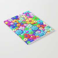 Flowers Notebook by Knm Designs