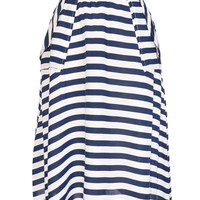 Sea Striped Summer Swing Skirt
