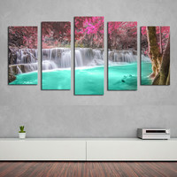 Frameless Canvas Painting Cuadros Decoracion Landscape Printed Wall Art Picture For Living Room Home Decor