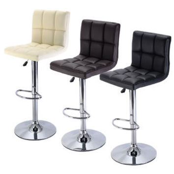 ConvenienceBoutique Barstools Chairs Adjustable Swivel PU Leather Counter