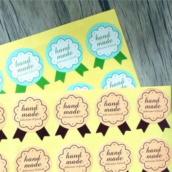 150pcs handmade Seal Sticker for baking Gift Label Stickers For Party Favor Gift candy Bag