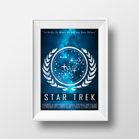 Star Trek Poster, Stellar, To Boldly Go, Gene Roddenberry, Original Series, Star Trek Print